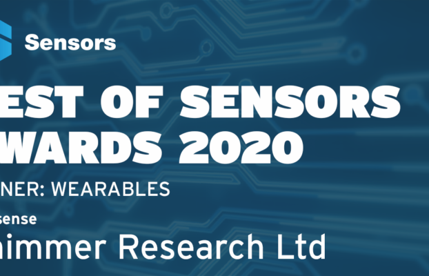 Shimmer Research Wins 2020 Best of Sensors Award for its Verisense Wearable Sensing Platform